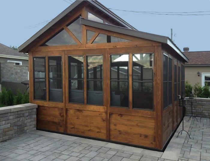 Gazebo verrio plusieurs mod les standards ou sur mesure for Abri patio club piscine